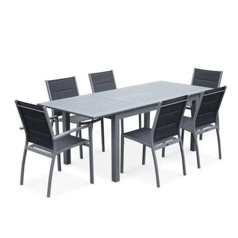 table de jardin avec rallonge salon de jardin table extensible chicago 210 gris table en aluminium 150 210cm avec rallonge