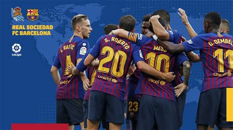 The entrances for the 2 parties already can purchase through our available service of ticket, where will find the best places of the camp nou and anoeta to the best prices guaranteeed. When and where to watch Real Sociedad v FC Barcelona - FC Barcelona