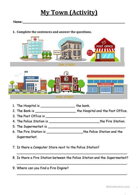 backpack   town worksheet worksheet  esl