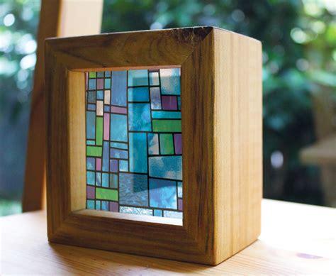 glass christmas light box modern stained glass handmade timber light box see through