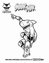 Coloring Pages Arcade Bmx Shark Raskullz Printable Comments Getcolorings Getdrawings Tag Scooters sketch template