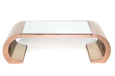 With a metal frame, this coffee table will add a casual and industrial feature to your interior design. valentina rose gold coffee table - High Style