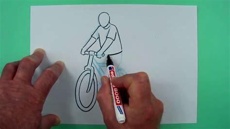 wie zeichnet man einen fahrradfahrer zeichnen fuer kinder