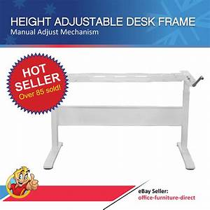Height Adjustable Desk  Manual Sit Stand Desks Frame Only