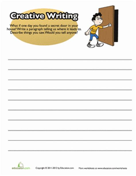 creative writing prompts 3rd grade worksheets