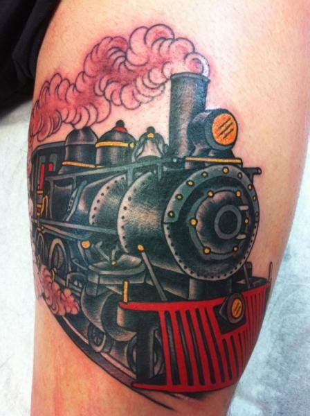 unique train tattoos