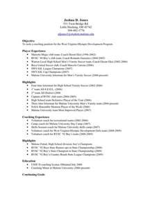 high school soccer coach resume sle application for general manager cover letter around