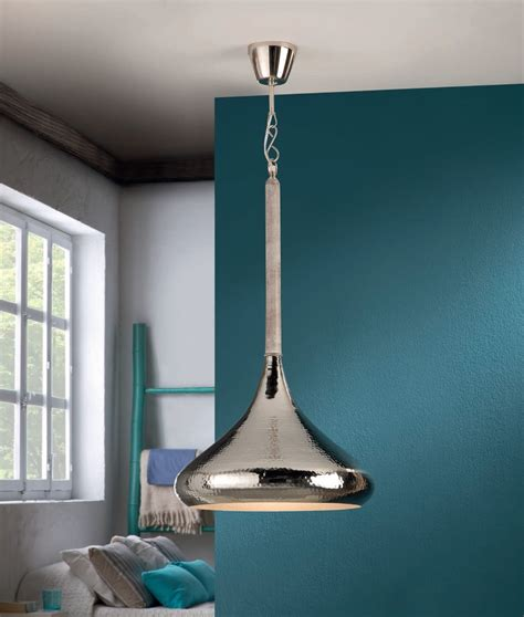 Hammered Metal Pendant Light by Hammered Metal Led Pendant Two Finishes