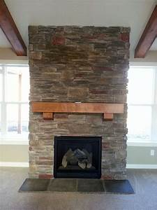 Classic Metal Screen For Appealing Stone Fireplace Designs