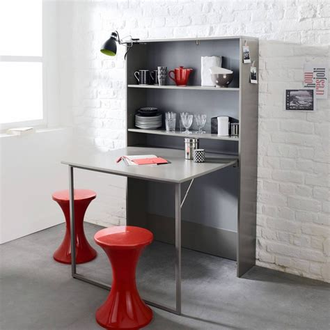 table escamotable cuisine meuble de rangement avec table escamotable 3 suisses
