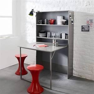 Meuble Lit Escamotable : meuble de rangement avec table escamotable 3 suisses petits espaces pinterest table ~ Farleysfitness.com Idées de Décoration