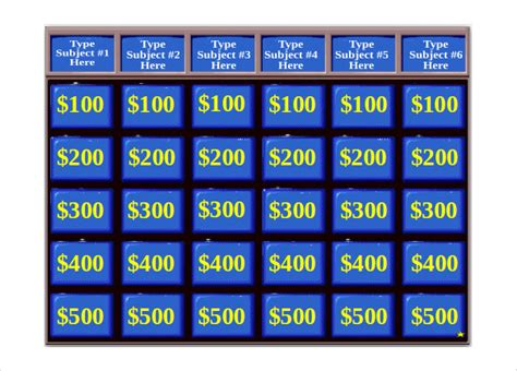 jeopardy powerpoint template with sound 10 jeopardy templates free sle exle format free premium templates