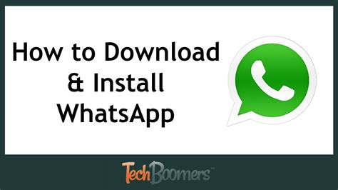Whats App Download and Install