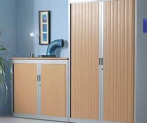 Armoire à Rideaux : armoires portes rideaux 2m mobilier bureau ~ Teatrodelosmanantiales.com Idées de Décoration