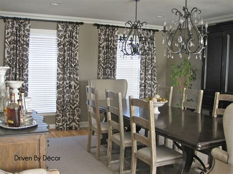 dining room curtain ideas drapery panels for a gray dining room driven by decor
