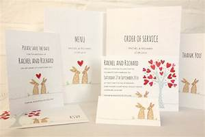introducing bunnies wedding invitation ivy ellen With wedding invitations recycled paper uk
