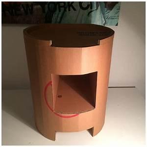 Table De Chevet Ronde : table de chevet ronde lpb carton ~ Teatrodelosmanantiales.com Idées de Décoration