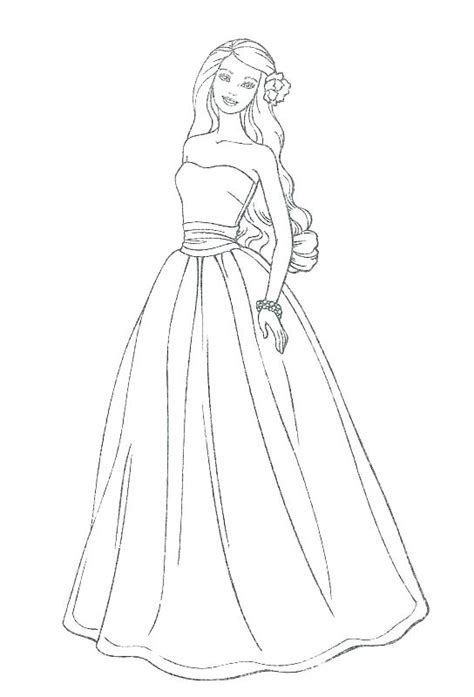 wedding dress coloring pages printable  getcoloringscom  printable colorings pages