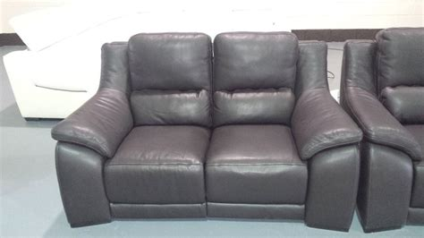 polo divani degano brown leather electric recliner pair