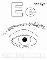 Coloring Eye Pages Sheets Eyes Printable Practice Preschool Worksheets Letter Colouring Handwriting Kindergarten Human Toddlers Sight Bestcoloringpages Getcoloringpages Cartoon Alphabet sketch template