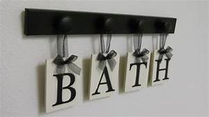 Bath sign personalized handmade hanging letters set includes for Hanging letters