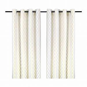 Ikea Rideau Blanc : henny rand rideau 2 panneaux blanc gris jaune ikea ~ Melissatoandfro.com Idées de Décoration