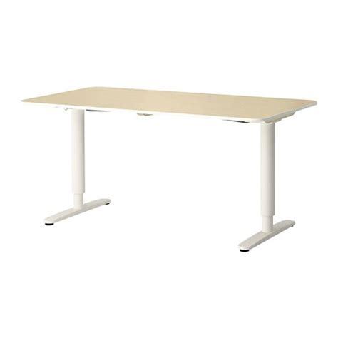 bureau debout ikea bekant bureau assis debout plaqué bouleau blanc ikea