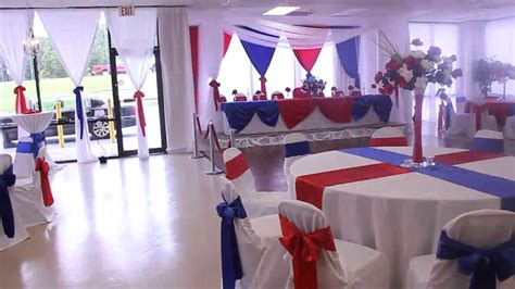American made display boxes for america's finest volunteers. Military Retirement Red White and Blue theme at the All ...