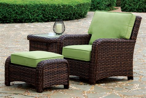 Wicker Patio Chair With Ottoman by Introduction To Wicker Outdoor Furniture Intro Into