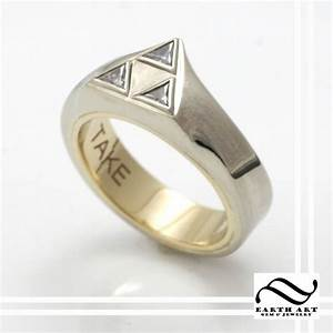 handmade take this triforce engagement ring by earth art With triforce wedding ring