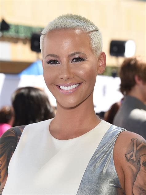 cool and cool amber rose new hairstyle 2015