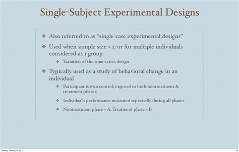 experimental research overview