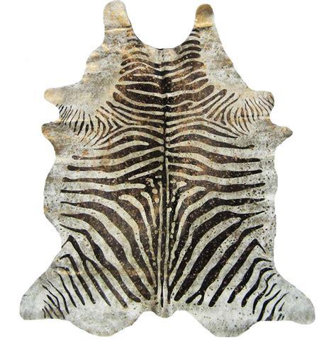 cowhide zebra print rug devore metallic zebra brown on beige with gold cowhide