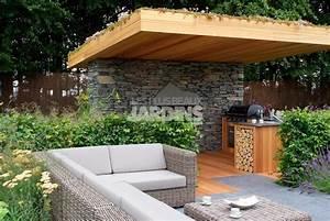 Cuisine et salon dexterieur ouverts toute l39annee les for Deco cuisine pour salon de jardin
