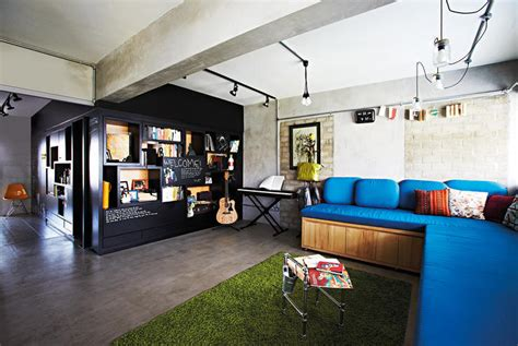 Home N Decor Sg : 8 Inspiring Hdb Flat Homes With Concrete Screed Finishes