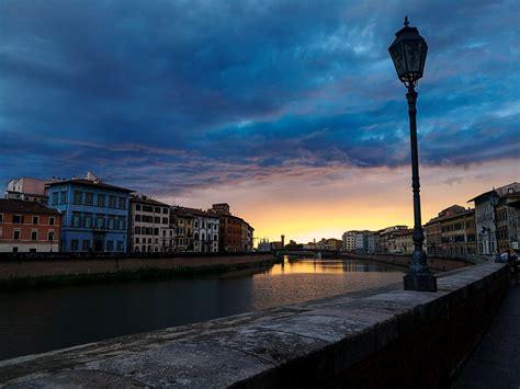 illuminazione pisa sfondi strada luce tramonto mare citt 224 paesaggio