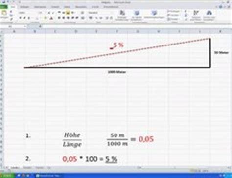 video gefaelleberechnung  prozent einfache anleitung