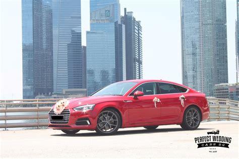 red audi  perfect wedding cars singapore