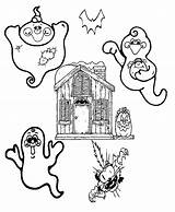 Coloring Ghost Pages Halloween Ghosts Printable Fantasy Keeping Printables Friendly Safe These Addition Check Godzilla Fun Central sketch template