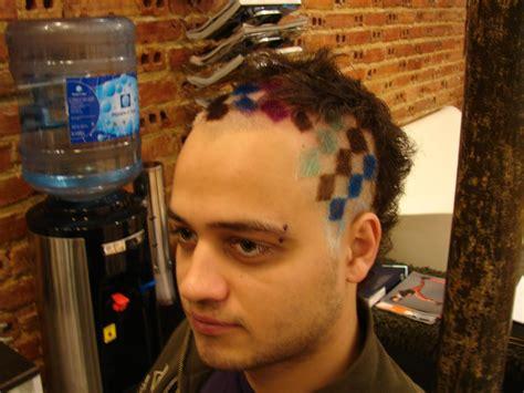 square hair cut  lisbon haircut  color  pattern flickr