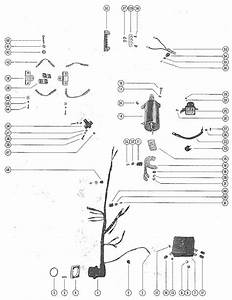 Mercury Marine Model 700 70 Hp  6 Cylinder  Starter Motor  Starter Solenoid  Rectifier  U0026 Wiring