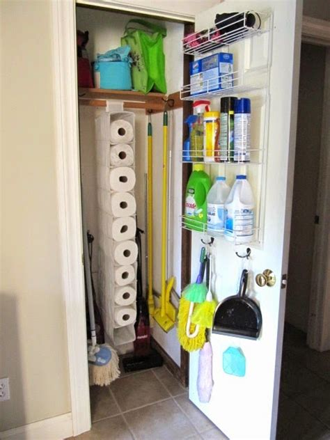 Cleaning Closet Ideas by Sew Many Ways Organized Broom Closet