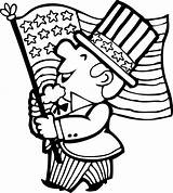 4th July Parade Coloring Pages Flag Fourth Printable Sheets Patriotic Easy American Sheet Hellokids Crafts Th March America Activities Fun sketch template