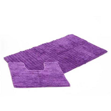 tapis de cuisine violet tapis de salle de bain contour wc violet