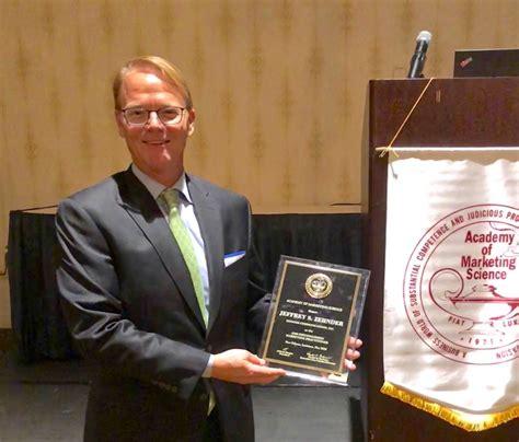 academy  marketing science honors jeff zehnder