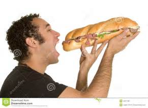 man eating sandwich royalty free stock images image 4327189