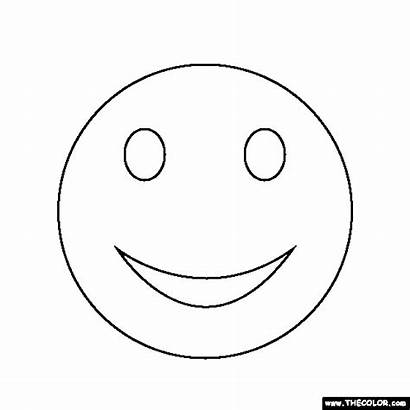 Face Smiley Coloring Sloth Pages Template Thecolor