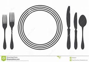 Cutlery clipart table setting - Pencil and in color ...