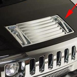 hummer  chrome hood vent  pull handle covers