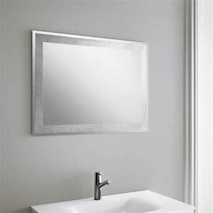 miroir salle de bain 80x60 cm horizontal ou vertical With miroir vertical salle de bain